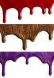 Nail polish. Blots of nail polish isolated on white background stock photo