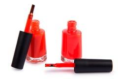 Nail polish bottle isolated on white. Royalty Free Stock Image