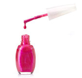 Nail polish bottle. On white background Royalty Free Stock Photography