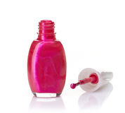 Nail polish bottle Stock Photos