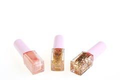 Nail polish bottle on white Royalty Free Stock Photo
