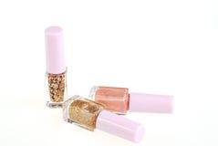 Nail polish bottle on white Stock Images