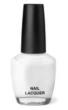 Nail polish. Bottle of white nail polish isolated on white Stock Photo
