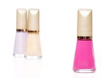 Nail polish bottles Royalty Free Stock Photos