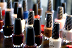 Nail polish bottles Stock Photos