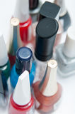 Nail polish bottles Stock Photo