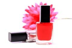 Nail polish bottles. Beautiful shot of nail polish bottles white background stock photography