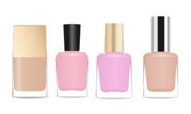 Nail polish bottles Royalty Free Stock Images