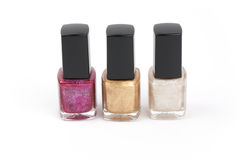 Nail polish bottles isolated Royalty Free Stock Image