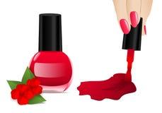 Nail polish, cdr vector royalty free stock photos