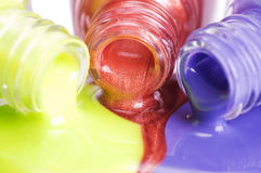 Nail polish close up Stock Photography