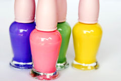 Nail polish. Close up of colorful nail polish royalty free stock photography