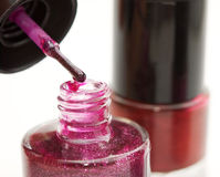 Nail polish, closeup Stock Images
