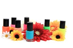 Nail polish (color set) Stock Images