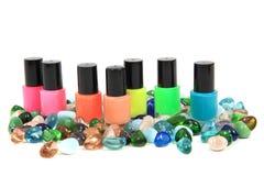 Nail polish (color set) Royalty Free Stock Image