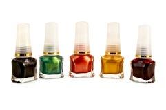 Nail polish colored Stock Image