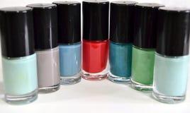 Nail polish colors on white background Stock Photo