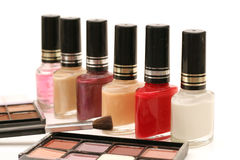 Nail polish & cosmetics Stock Image