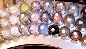 Nail polish crayon tints Stock Photo