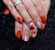 Nail polish design Stock Photo