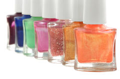 Nail polish in different colors Royalty Free Stock Image