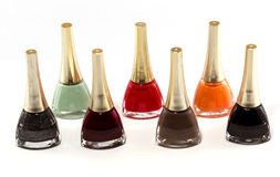 Nail Polish of Different Colors Stock Images