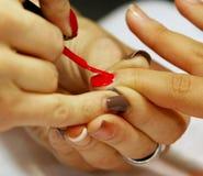 Nail polish drawing Royalty Free Stock Image