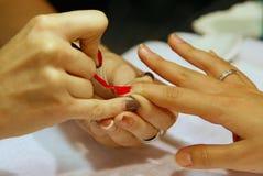 Nail polish drawing Royalty Free Stock Photo