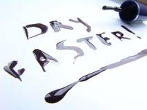 Nail polish, dry faster!. Message for nail polish 'Dry faster Stock Photos