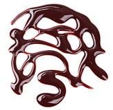 Nail polish (enamel) brown sample pattern Royalty Free Stock Photography