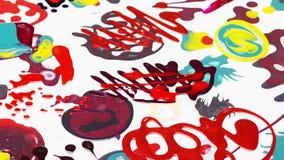 Nail polish (enamel) mixed multicolor samples rotating, loop stock video