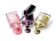 Nail polish of fashionable color Stock Photos