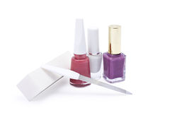 Nail polish and file Royalty Free Stock Photography
