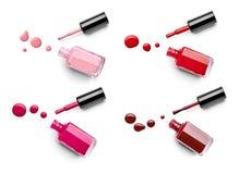 Nail polish finger make up beauty cosmetic Stock Photography