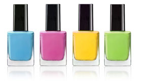 Nail polish. Four color of nail polish Royalty Free Stock Image