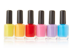 Nail polish group Stock Photos