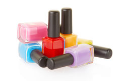 Nail polish group Royalty Free Stock Photo