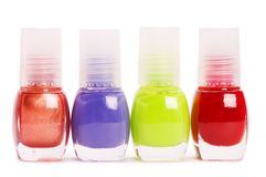 Nail polish isolated on a white Stock Image