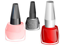 Nail polish. Isolated on a white background Stock Image
