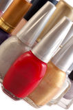 Nail Polish Lineup Royalty Free Stock Photography