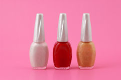 Nail Polish Lineup Royalty Free Stock Photos
