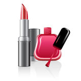 Nail polish and lipstick Royalty Free Stock Photo