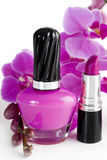 Nail Polish and Lipstick Royalty Free Stock Photos