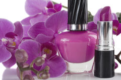 Nail Polish and Lipstick Royalty Free Stock Image