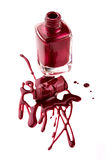 Nail polish with lipstick Stock Photography