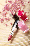 Nail polish and lipsticks Stock Photo