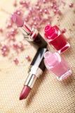 Nail polish and lipsticks Stock Photo