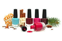 Nail polish - make-up for New Year party Stock Photo