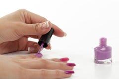 Nail polish manicured Royalty Free Stock Photography
