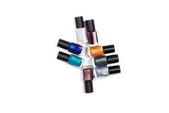 Nail polish . stock images